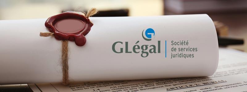 Les services offerts par GLégal sont: droit corporatif, succession, droit immobilier, droit des personnes et autres services.